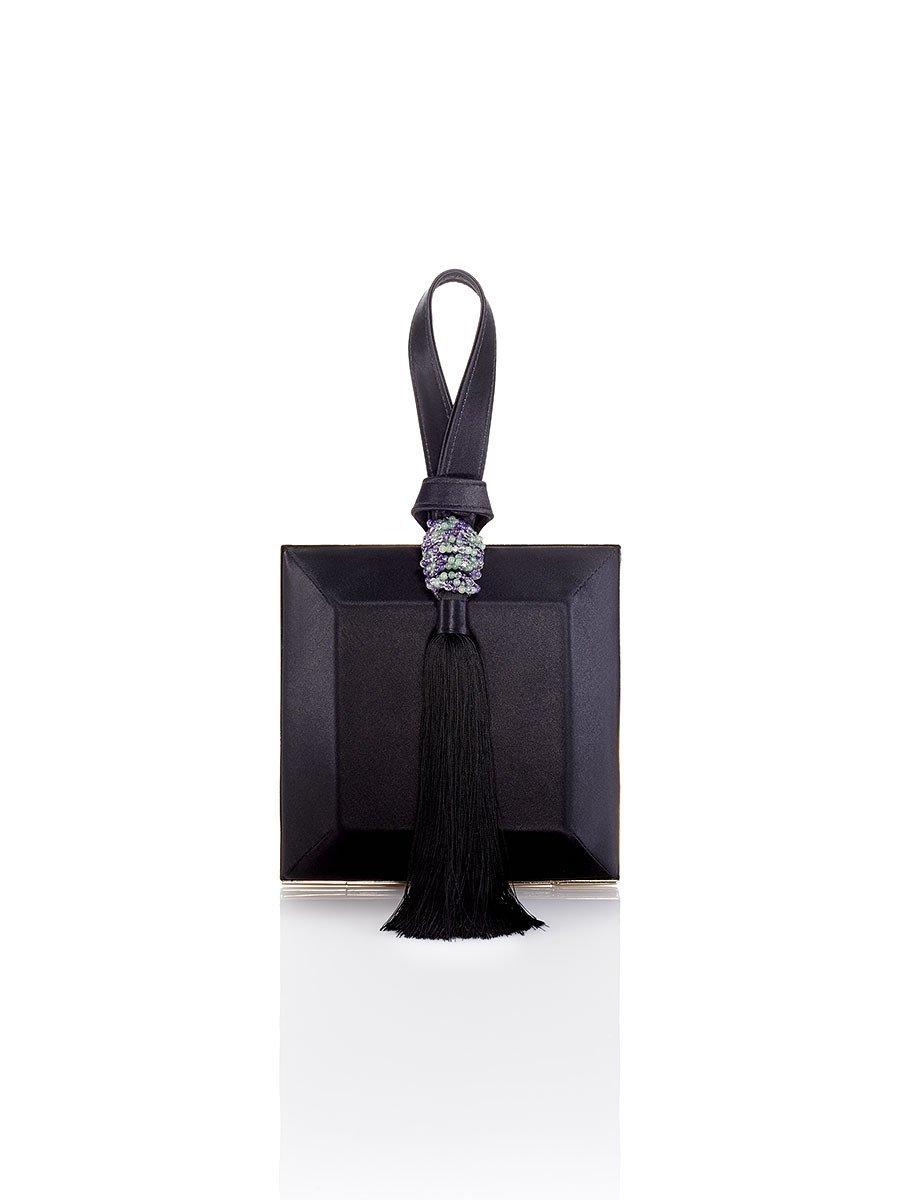 Tassel Silk Box Clutch