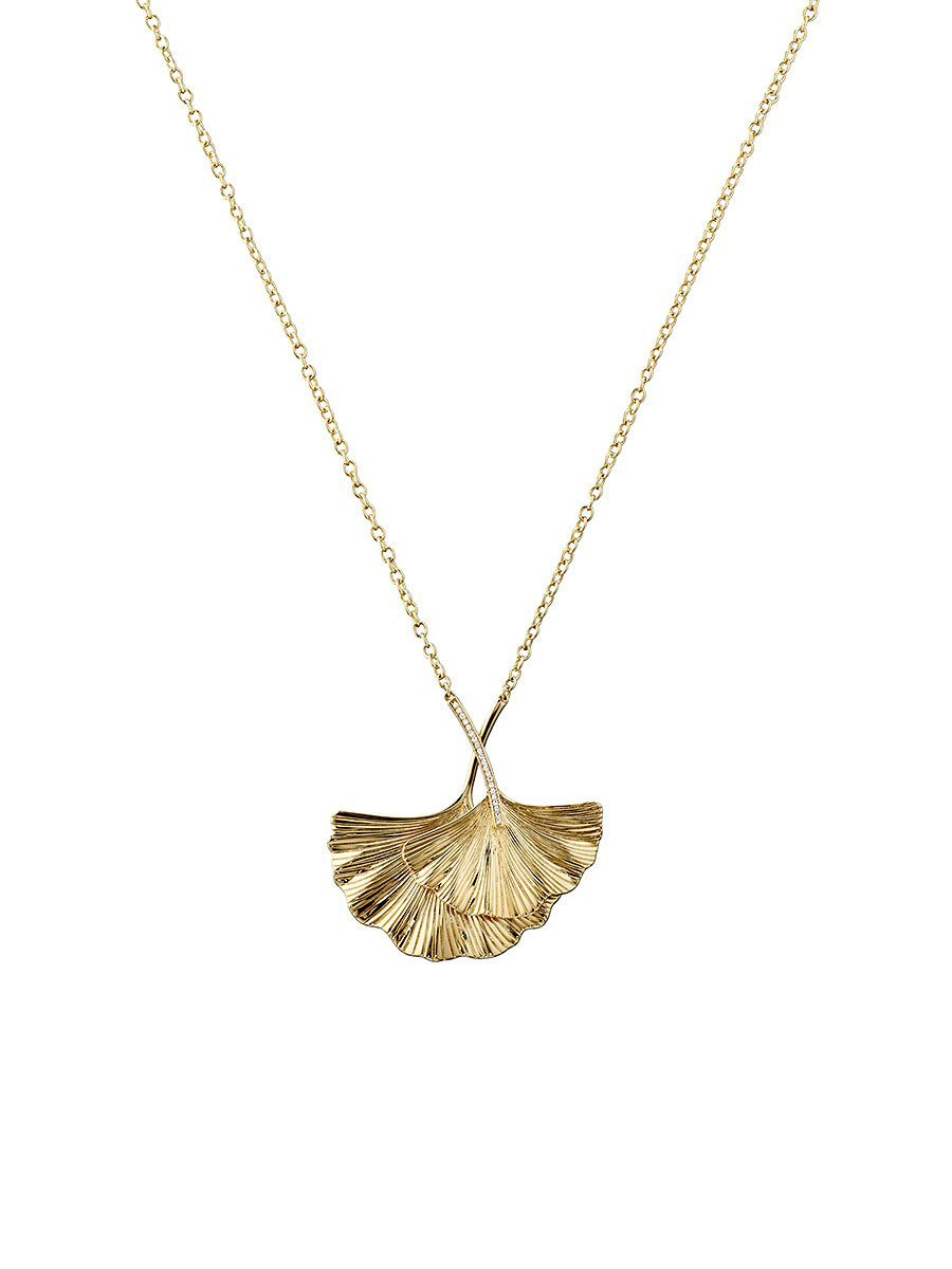 Ginkgo Pendant Necklace