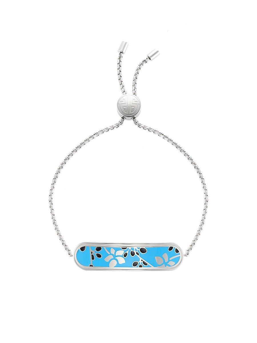 Orchid Bar Enamel Bracelet