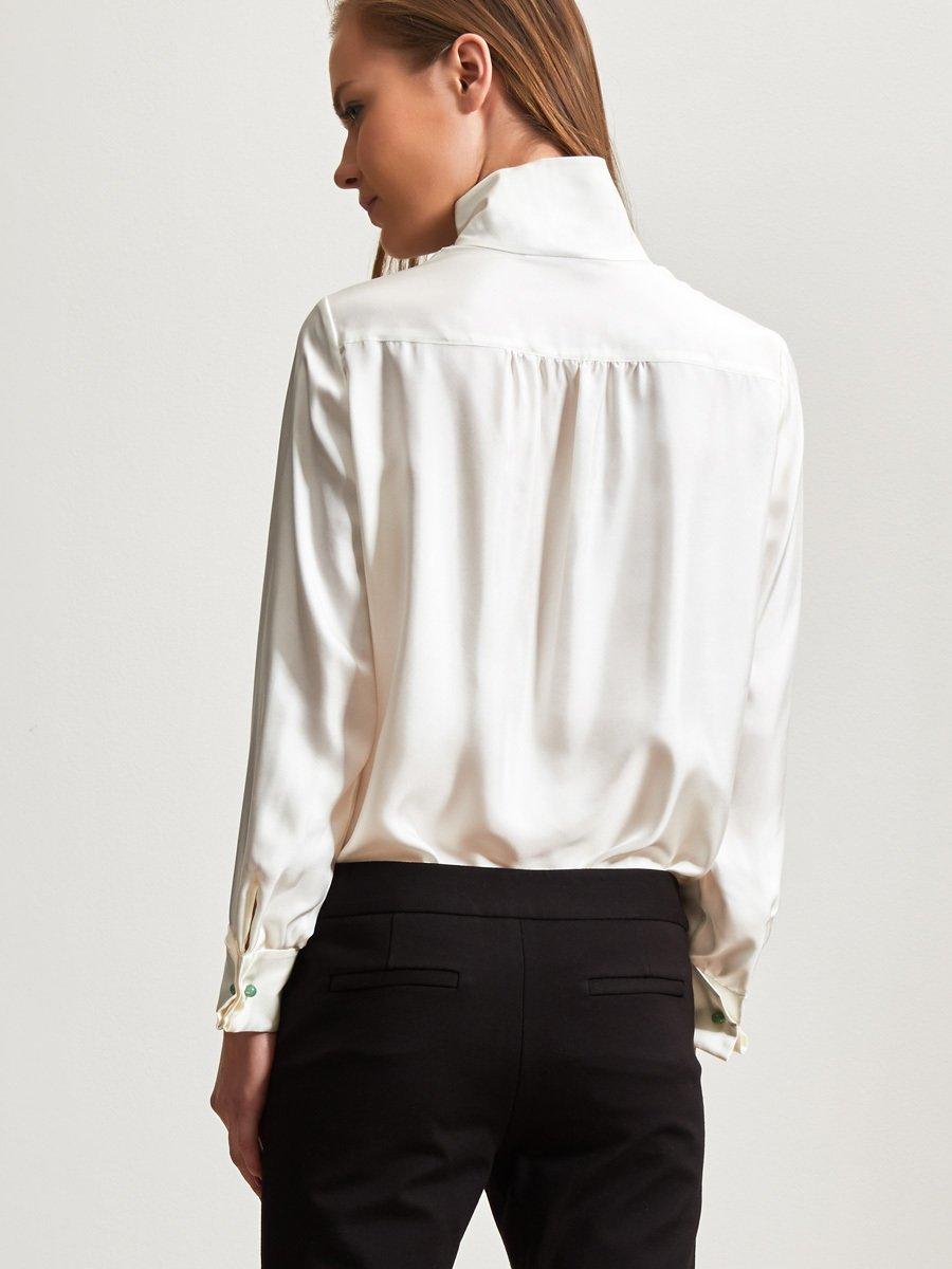 Silk Twill Long Sleeve Blouse