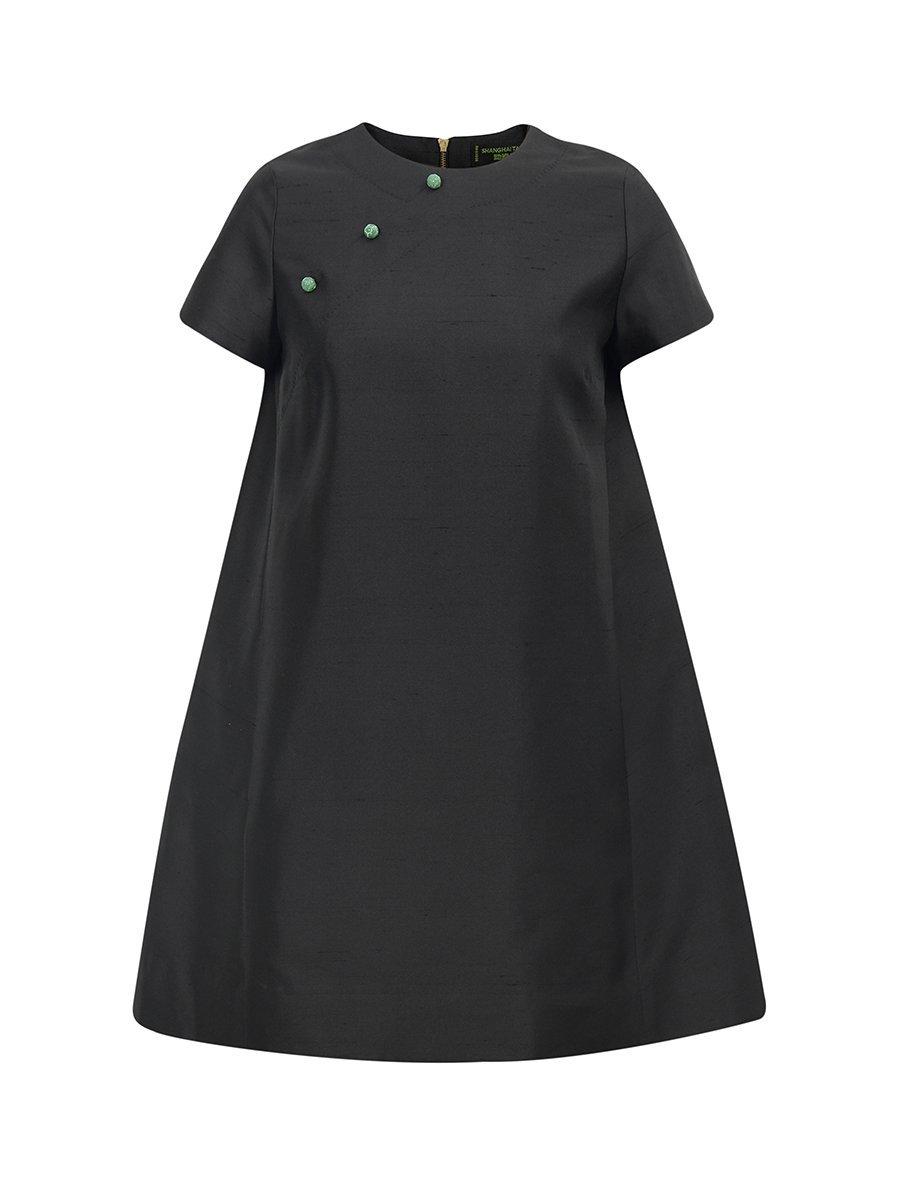 Silk Cotton Short Sleeve Dress