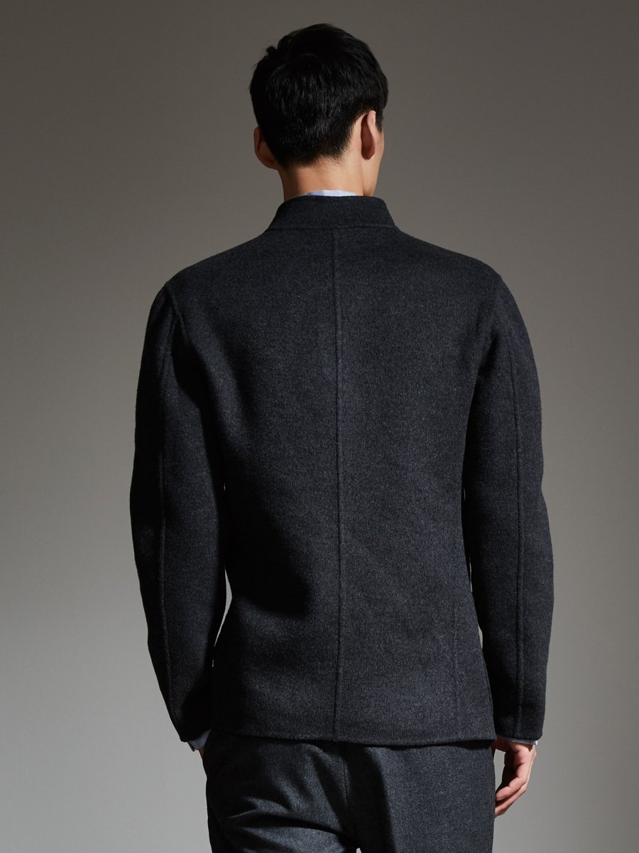 Wool Cashmere Reversible Jacket