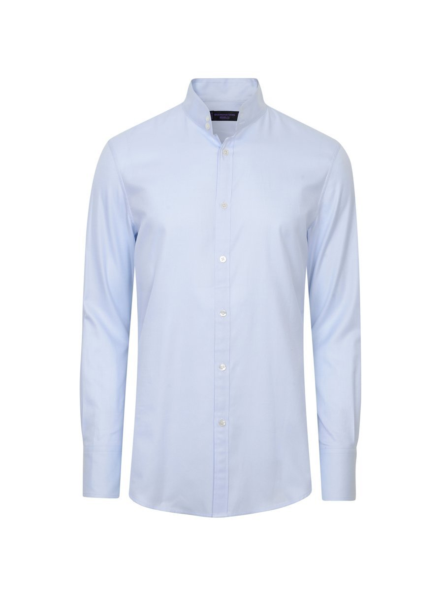 Cotton Twill Two Button Collar Shirt