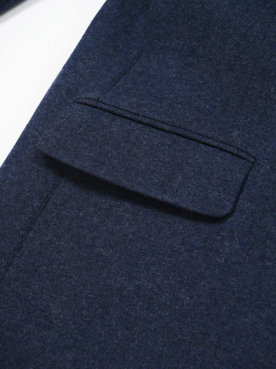 Wool-Cashmere Blend Knit Coat