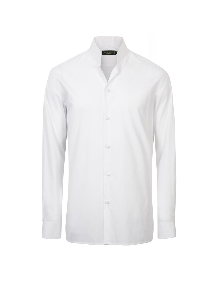 Cotton Shirt with Knot Buttons
