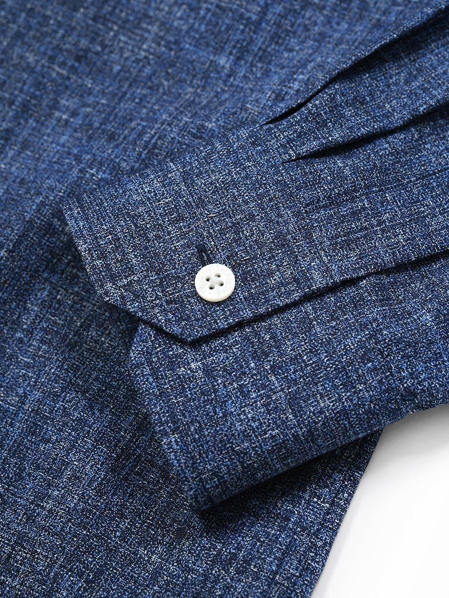 Cotton Printed Authentic Mandarin Collar Shirt