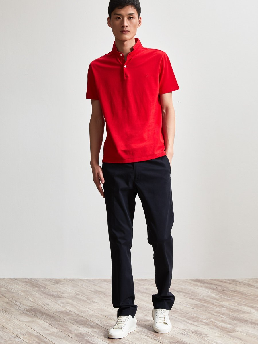 Cotton Fine Piqué Lock Polo Shirt