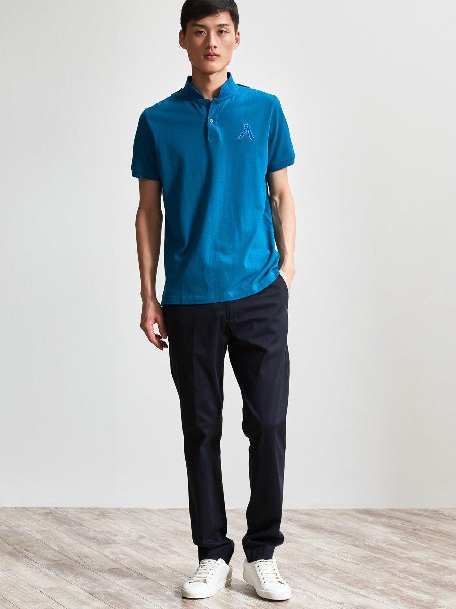Cotton 8 Embroidery Piqué Polo Shirt