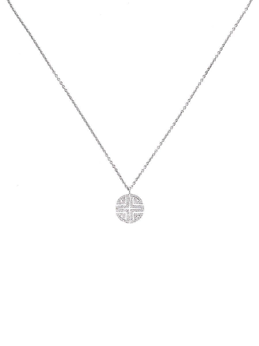 Fortune Shou Pendant Necklace