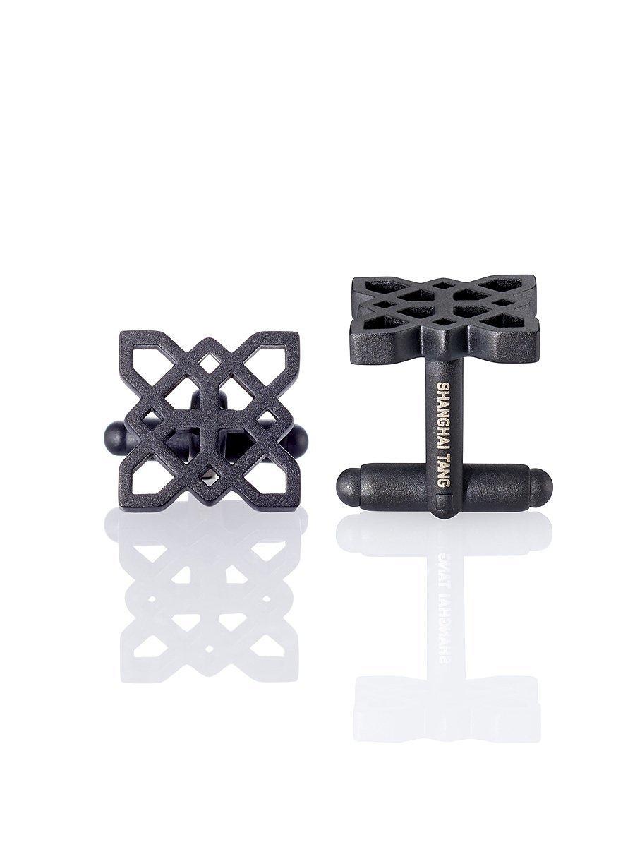 Black Lattice Cufflinks