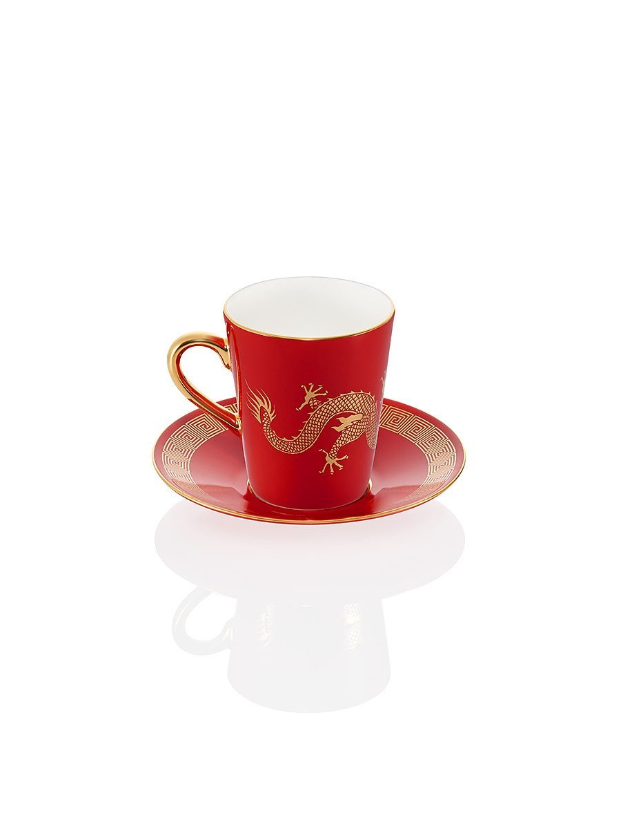 Dragon Espresso Cup and Saucer