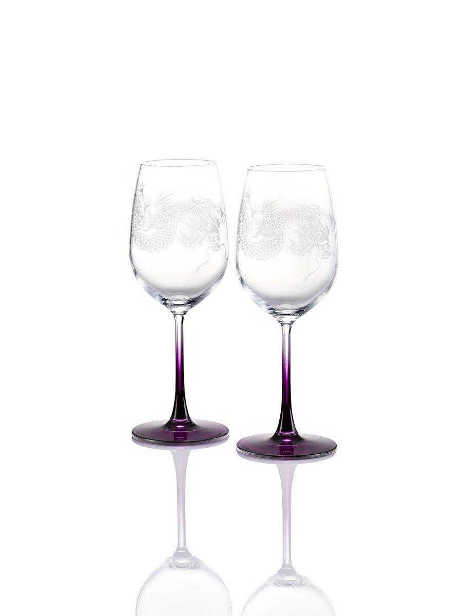 Colour Dragon White Wine Glasses (Set of 2)