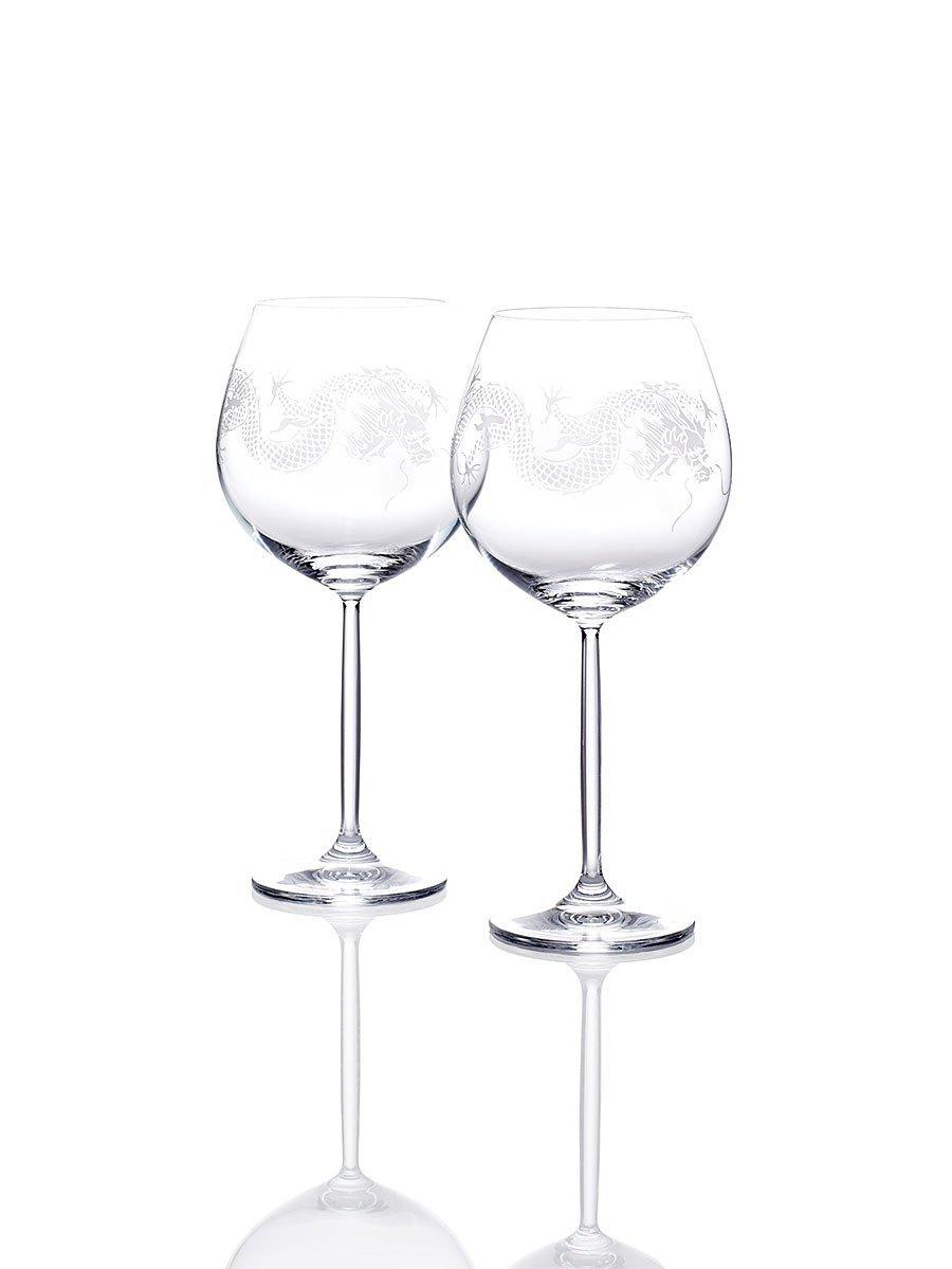 Dragon Burgundy Wine Glasses (Set of 2)