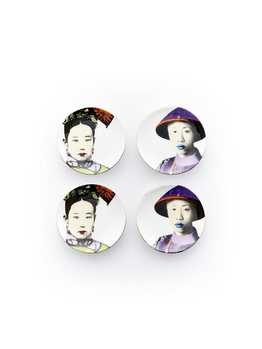 Puyi and Empress Mini Appetizer Plates (Set of 4)