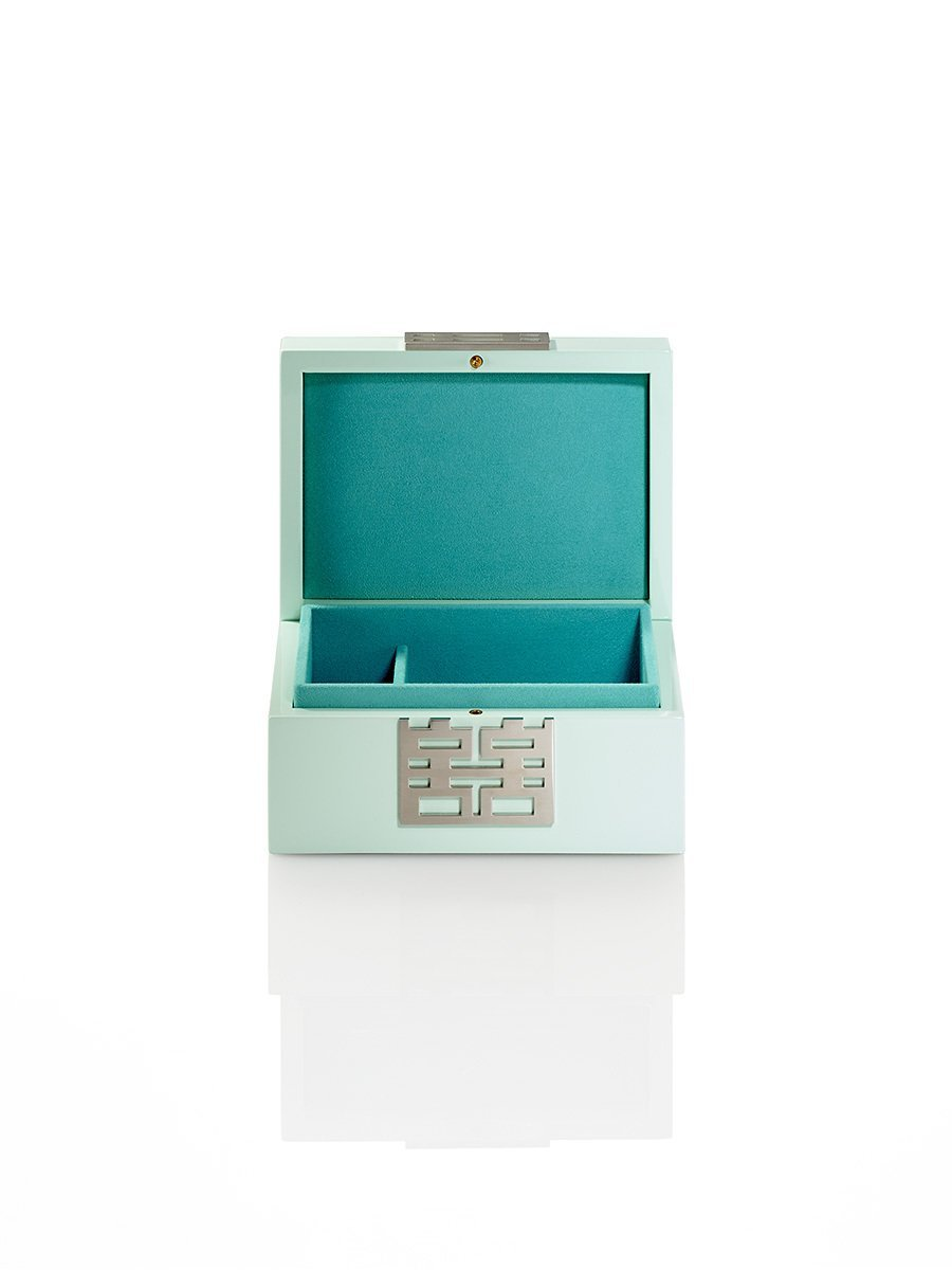 Double Happiness Jewellery Box in Lacquer Wood (Small)