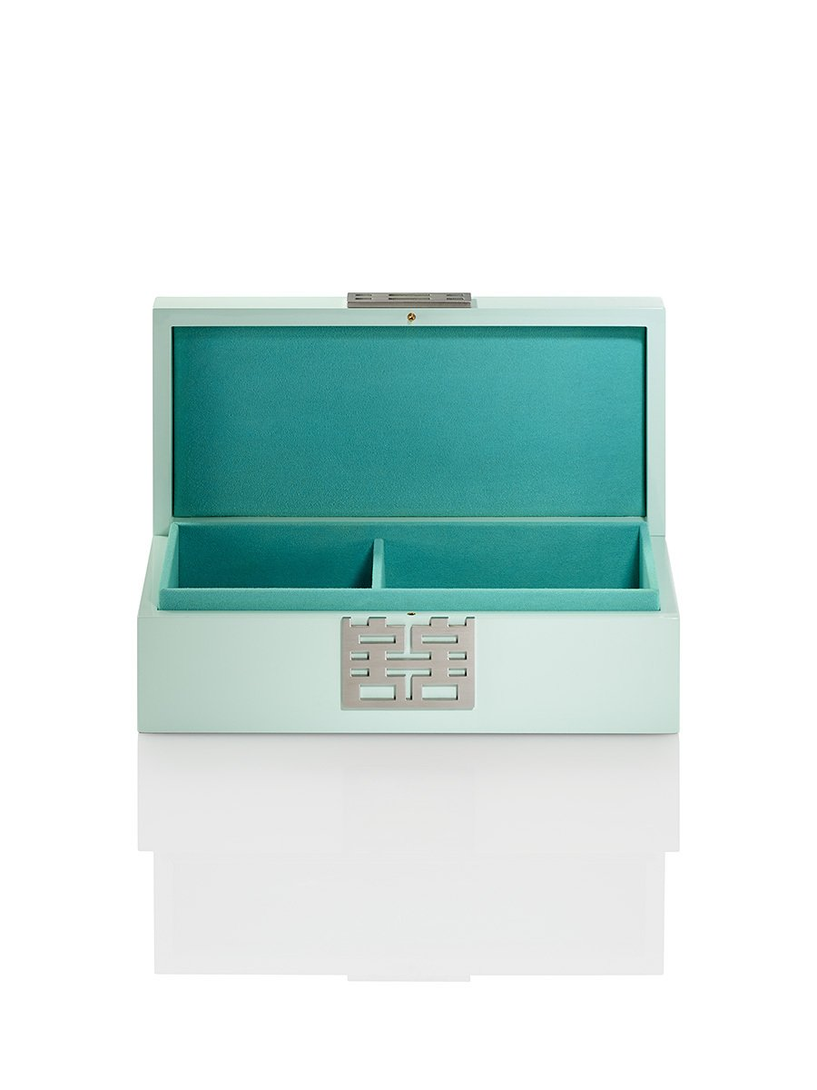 Double Happiness Jewellery Box in Lacquer Wood (Medium)