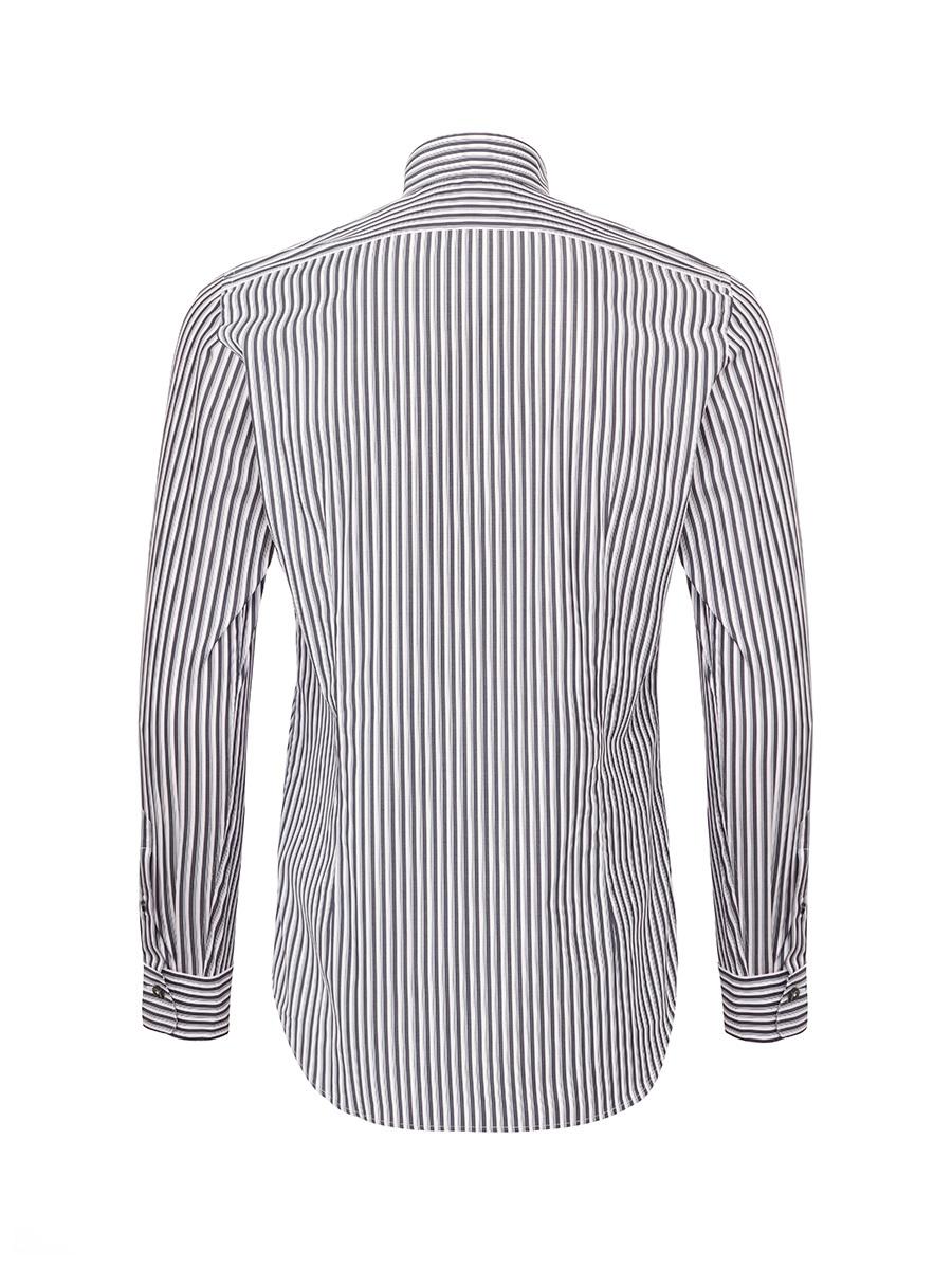 Mayfair Striped Mandarin Collar Shirt