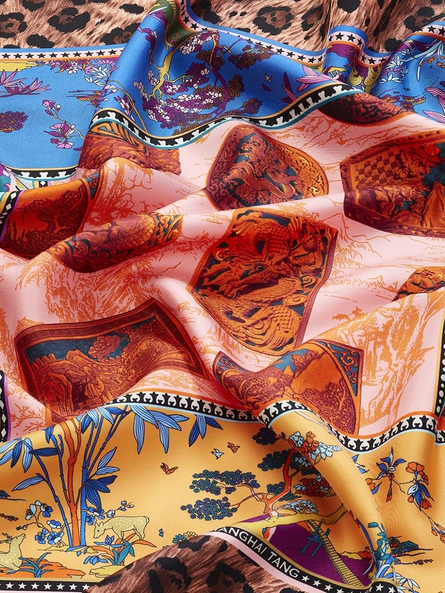 Lacquer Silk Twill Foulard