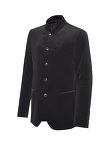 Velvet Mandarin Collar 5 Buttons Jacket