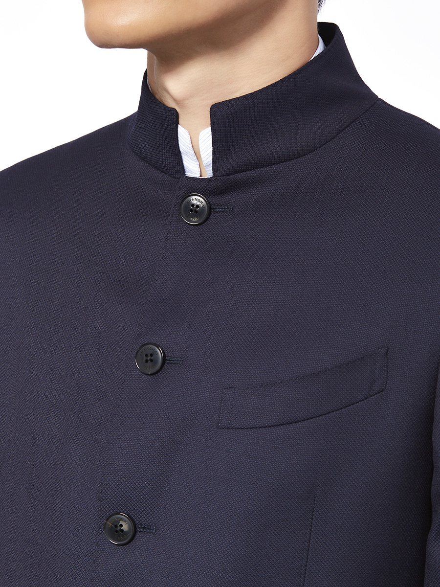 Mandarin Collar 5 Buttons Jacket