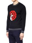 Laki Crew-Neck Jacquard Sweater