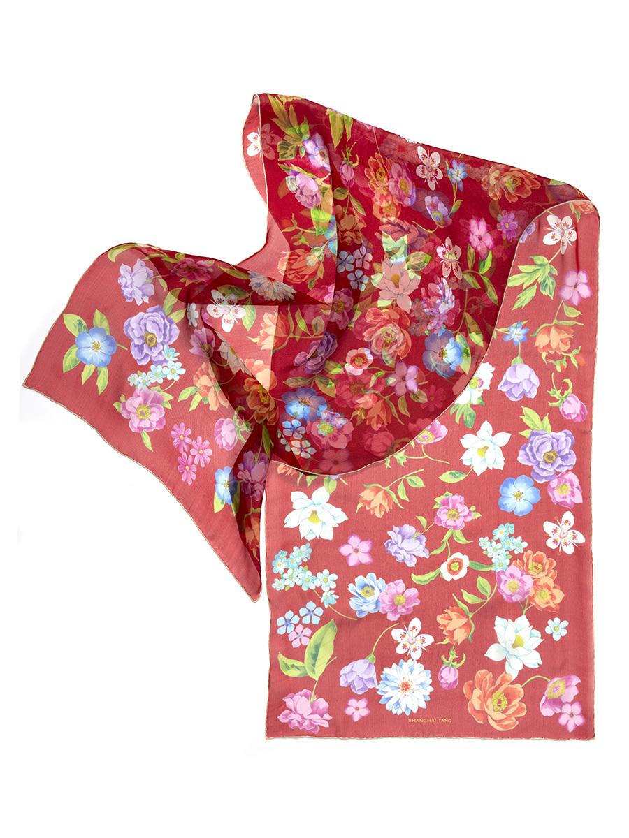 Peau D'Ange Silk Flower Scarf