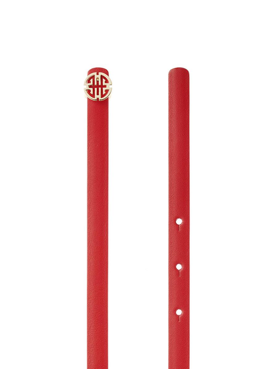 Bicolor Shou Skinny Belt