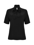 Short Sleeve Blouse With Bow
