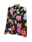 Flower Printed Silk Blouse