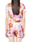 Flower Print Silk Shirt