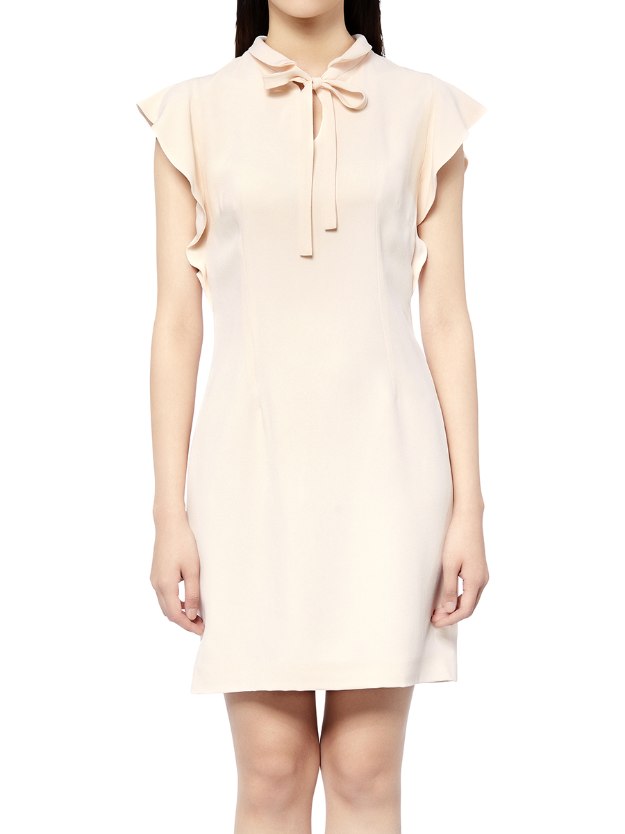 Cady Short Dress With Bow