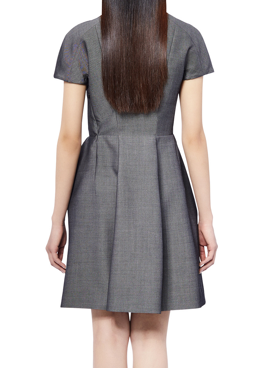 Wool-Cotton Denim Dress