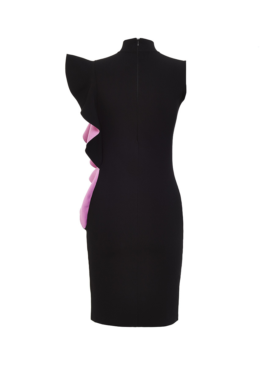 Asymmetrical Ruffle Knit Dress