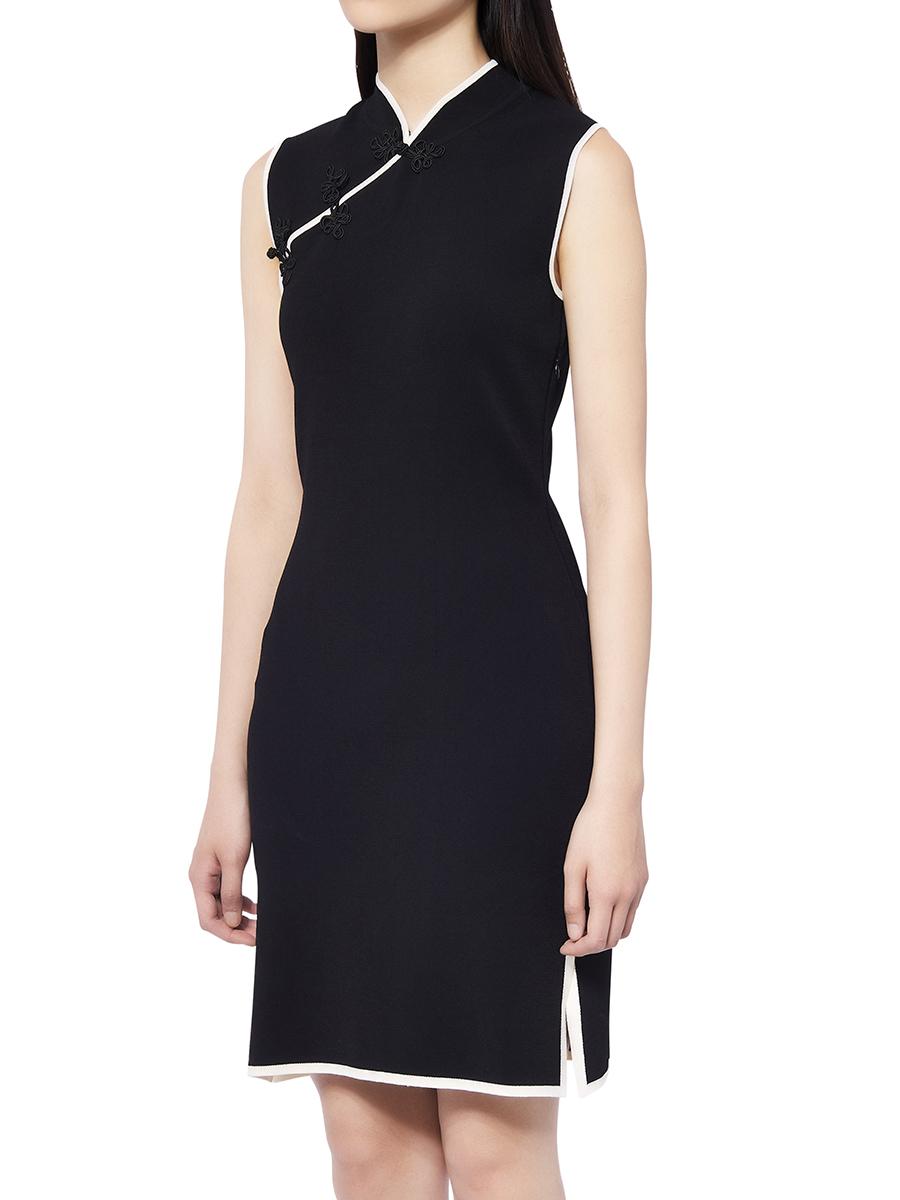 Knit Qipao Dress