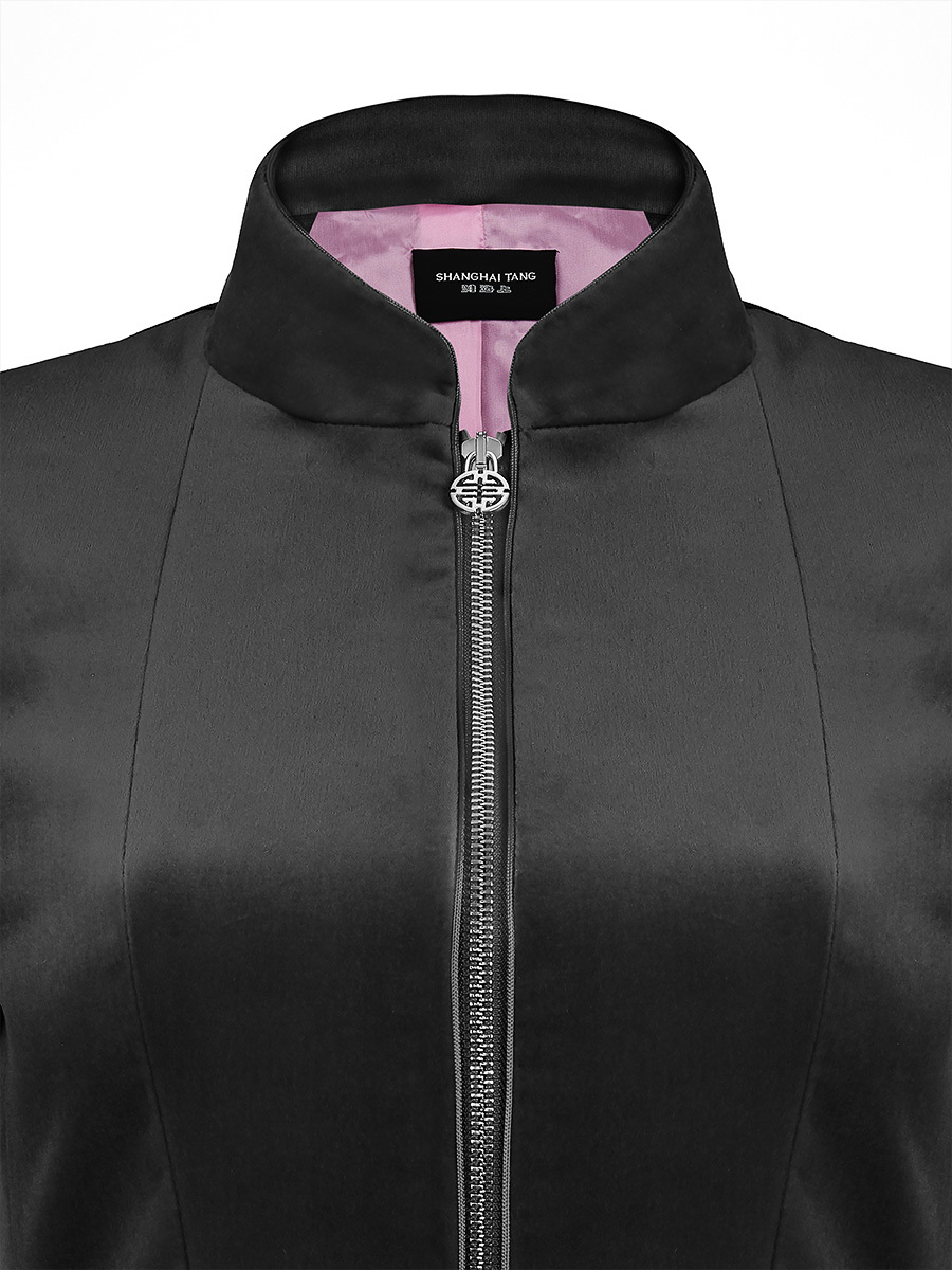 Velvet Mandarin Collar Jacket