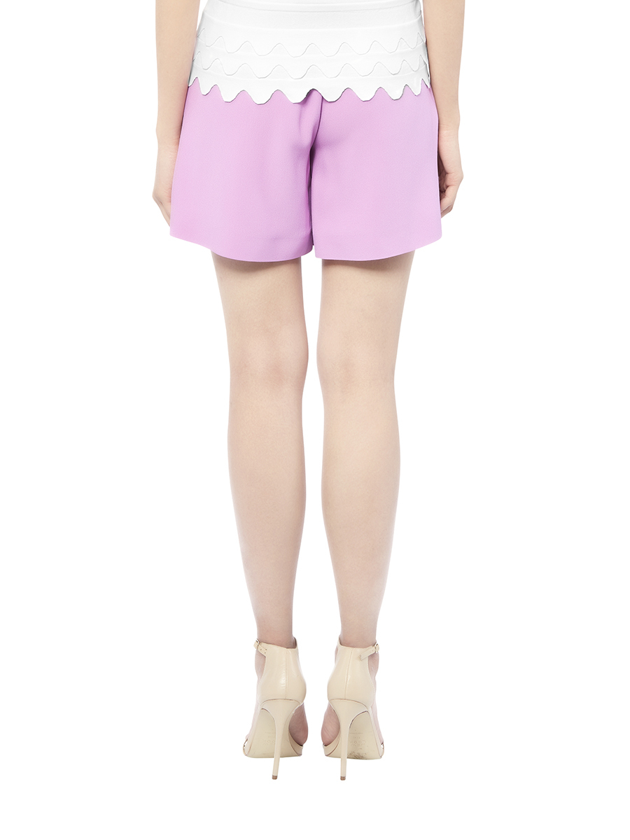 Pleated Cady Shorts