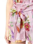 Flower Print Silk Shorts