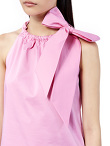 Cotton Sleeveless Top With Bow